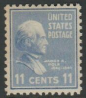 Scott# 816 - 1938 Presidential Series - 11 cents James K. Polk Single