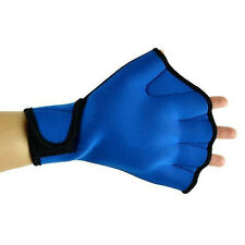 Blue Surfing Swim Aid Paddle Gloves Swim Fingerless Webbed Glove Tools Useful