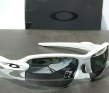 NEW* Oakley FLAK JACKET 2.0 WHITE POLARIZED Black Iridium XL Sunglass 9188-76