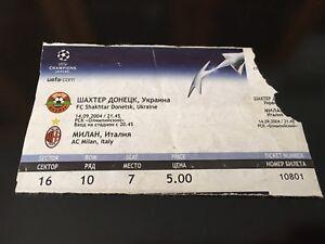 Ticket Match Champions FC Shakhtar Donetsk Ukraine - AC Milan Italia Italy 2004