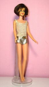 Vintage Beautiful Casey Doll #1180 Brunette OSS Gold Triangle Earring Exc.Cond