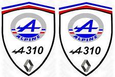 PROMO ! 2 sticker adhésifs pour ALPINE A 310  ( ideal pour aile avant )