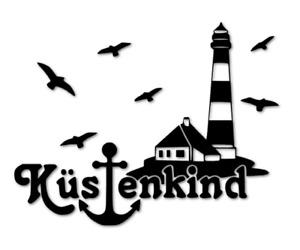 Küs|enkind Aufkleber Friesland Ostfriesland WHV Küsten decal Kind 24 #8375