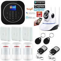 J29 APP WiFi IP GSM Wireless Home Security Alarm System+Amazon Alexa+Google Home
