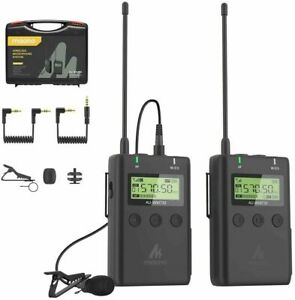 MAONO AU-WM730 48-Channel Wireless Lavalier Microphone System For Smartphone SLR