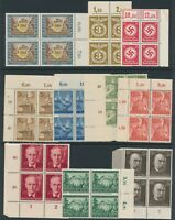 Lot Stamp Germany Blocks WWII 3rd Reich Labor Koch Newspaper Carriage MNG