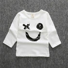 Baby Boys Girls Infants Toddler Short Long Sleeve Printed T-shirt Top outfit new