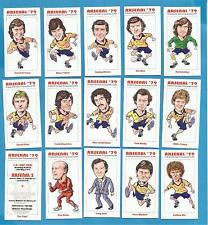 cigarette/trade cards - ARSENAL `79 - A TRIBUTE TO THE  FA CUP WINNERS OF 1979