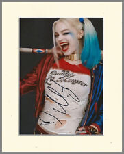 MARGOT ROBBIE HARLEY QUINN SUICIDE SQUAD PP 8x10 MOUNTED SIGNED AUTOGRAPH PHOTO