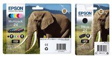 7x Original Epson Tinten Patronen 24 T2428 XP-55 XP-750 XP-850 XP-960 XP-950