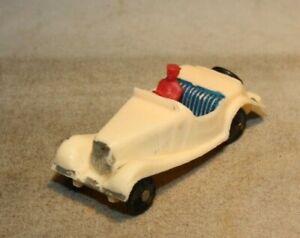 19A MG TD Roadster Matchbox Plastic Copy Hong Kong Polythene Miniatures Wt Mint!