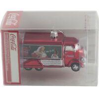 Kurt Adler Coca Cola Truck Glass Christmas Tree Ornament Santa Claus