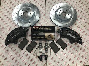 2011-16 Buick Regal 4 Piston GM Brembo Caliper Front Brake Upgrade Kit w/ Rotors