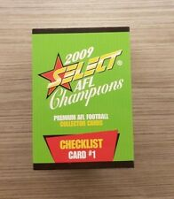 2009 AFL SELECT CHAMPIONS 195 CARD FULL COMMON SET TRADING CARDS