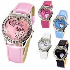 Child Faux Leather Wristwatches with 12-Hour Dial