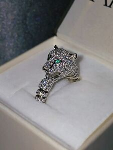 Luxury Cartier de Panthere Collection Unique Ring with emeralds HANDCRAFTED