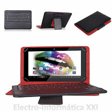 "FUNDA TABLET 8"" + TECLADO BLUETOOTH Y MINI USB SUJECION ACOLCHADO 8 PULGADAS"