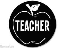 """4"""" TEACHER APPLE BUMPER STICKER DECAL EMBLEM USA MADE"""