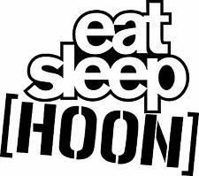 Comer Dormir Hoon-Ken Block calcomanías decorativas Corte De Vinilo 200 X 180mm cantidad X 2-Evo 8