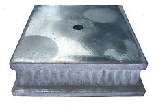 "NEW- Old Stock Unfinished  5""sq. Cast Zinc Metal Lamp Base part"