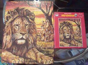 "Vintage Whitma 1977 Marlin Perkins Wild Kingdom ""LION"" Complete Jigsaw Puzzle!"