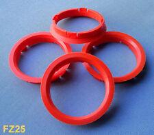 (FZ25) 4 Stück  Zentrierringe 74,1 / 66,6 mm  orange für Alufelgen