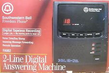 Telephone answering machines ebay southwestern bell freedom phone fa982 2 line digital answering machine used fandeluxe Choice Image