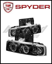 Spyder Chevy Astro 95-05/GMC Safari 95-05 Projector Headlights LED Halo Black