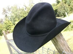 WOOL FELT SHEPLERS GUS CREASED HAT 7 5/8 WITH STETSON LOS TIGRES DEL NORTE LINER