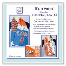 """Reversible T-Shirt Infinity Scarf Kit, from June Tailor, 10"""" x 50"""" Loop"""