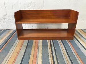 Vintage Low Solid Wood 2 Teir Shelving Unit
