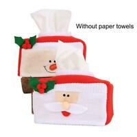 Christmas Tissue Box Cover Car Paper Box Santa Xmas Claus Festival Dec G4F3