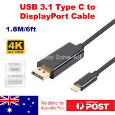 USB C USB 3.1 Type C to DisplayPort DP Male Cable Adapter 4K@60Hz 1.8m MacBook