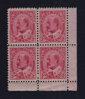 Canada Sc #90 (1903) 2c King Edward VII Corner Block VF H