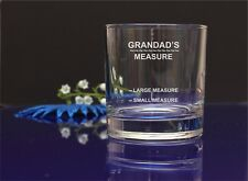 Personalised Engraved Whiskey Glass Fathers Day Gift Grandads Measure  1