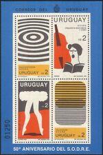 URUGUAY 1980 sodre/RADIO/TELEVISIONE/Balletto/Danza/cantante/DANCING 4v M/S (n44914)