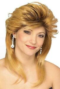 Used Car Sales Girl Wig 80's Soap Fancy Dress Up Halloween Costume Accessory