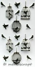 Artoz Artwork 3D-Sticker, Vögel Käfig Voliere