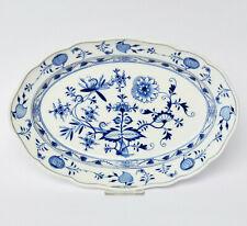 Meissen Porzellan Anbietplatte Platte Schale oval Zwiebelmuster 34 x 23 cm