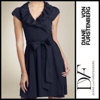 Diane Von Furstenberg Bethania Wrap Dress Navy Size 6