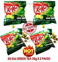 Nestle KitKat Kit Kat Bites Wafer in Green Tea Confectionery Chocolate 2 Packs