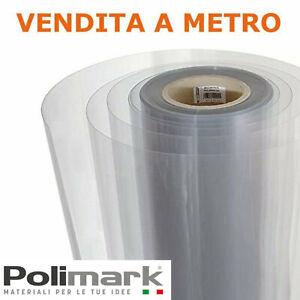 Vetro sintetico trasparente in rotolo L 100 cm finto vetro schermatura Al metro