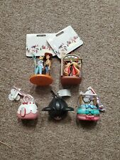 Set (5) Disney Authentic Ornaments-Sketchbook, Purse, Ear Hat New With Tags