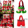 XMAS Party Gift Santa Pants Elf Spirit Christmas Candy Gift Bag Sack Stocking