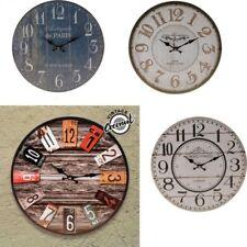 Reloj de Pared analógico de madera diseño Retro Vintage 33,5 x 0,5 cm,decoración