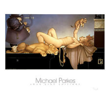 Michael Parkes Gargoyles /& Swan Lake Fantasy Weird 2 Print Set Poster 31.5x27.5
