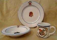 HARRY POTTER HOGWARTS School Crests PLATE BOWL CUP Johnson Brothers Dish Set