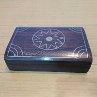 Antique vintage Rose Wood Jewelry Box Handmade