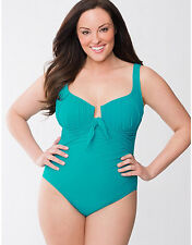 NEW LANE BRYANT SANDRA D MAILLOT ONE PIECE SWIMSUIT BY MIRACLESUIT SZ 16