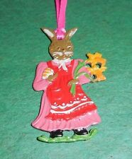 KUHN HAND PAINTED PEWTER FROM GERMANY EASTER/SPRING MOTIF MAMA BUNNY